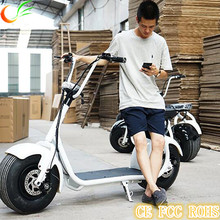 New Design big wheels 1000W battery powered adult electric motorcycle