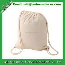 OEM Promotional Plain Cotton Drawstring Bag / 100% Cotton Drawstring Back Sack / Cheap Canvas Drawstring Backpacks