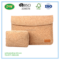 2016 Exclusive Tablet Pouch Bag For Huawei Mate Book Soft Cork Sleeve Bag For Huawei Mate Book 12 Inch + Charger Bag