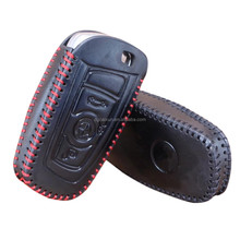 Leather remote key case cover shin keychain fob shell for BMW 1 2 3 5 7 series X1 X3 X4 X5 X6 E46 E53 F30 F31 F10 F20 F30 GT