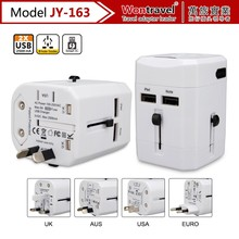 Hot sale item travel Socket Adversting world universal power travel adapter charger au eu uk us plugs CE ROHS FCC approved