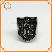 Wholesale Mens Fashion Jewelry Cool Stainless Steel Cheap Custom Signet Ring
