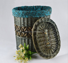 New fashion wicker weave rustic design dirty laundry storage basket for wholesale suppliers