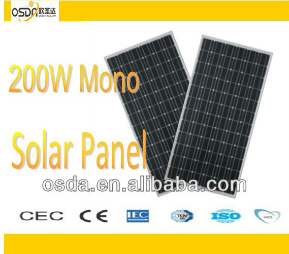 polycrystalline photovoltaic solar panels 200W