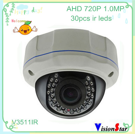Excellent image 1.0mp 720p ahd cmos video indoor metal surveillance camera