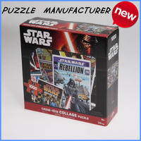 OEM jigsaw puzzle1000pieces puzzle and paper material puzzle toy