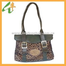 2014 fashion leopard leather handbag