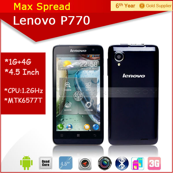 lenovo p770 android 4.1 1gb ram mtk6577 phone transparent cell phone