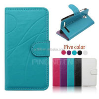 Hot selling mobile phone case design flip leather cover for HTC One Mini 2 M8 Mini