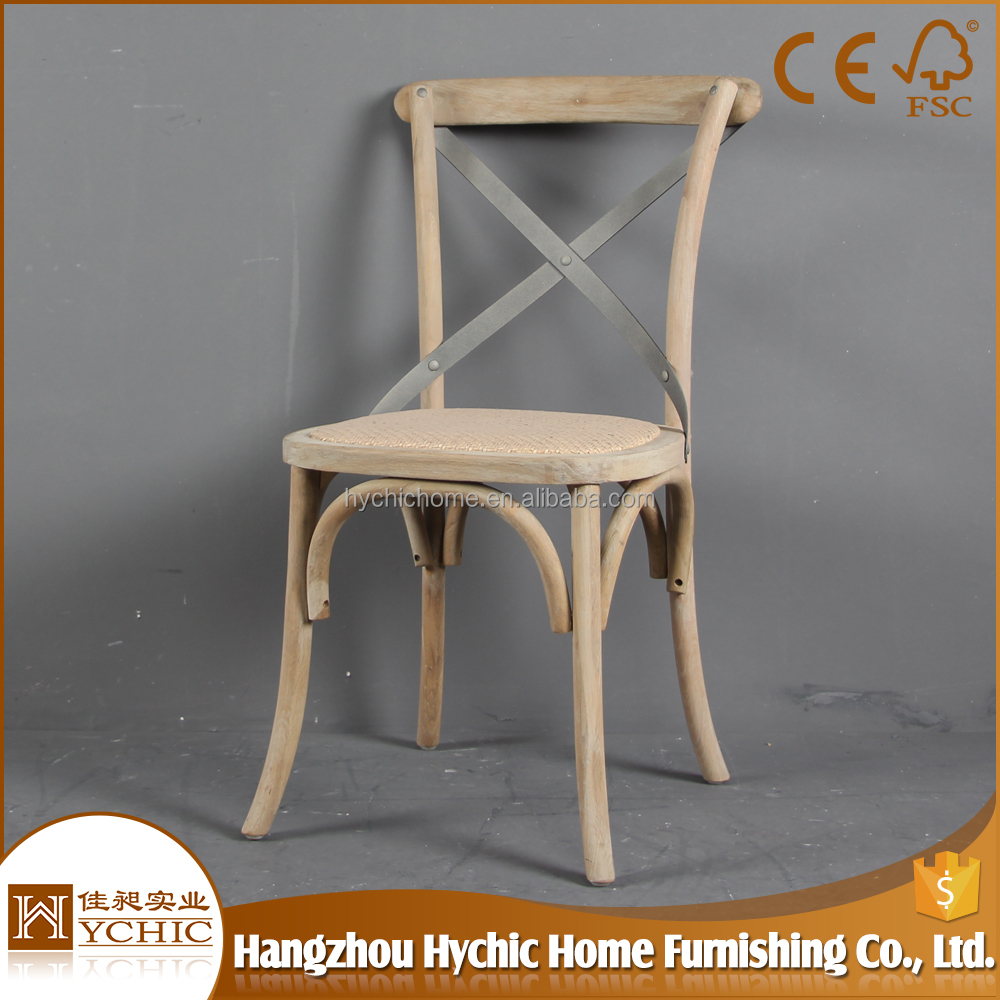 Alibaba china wholesale french X back wooden chair