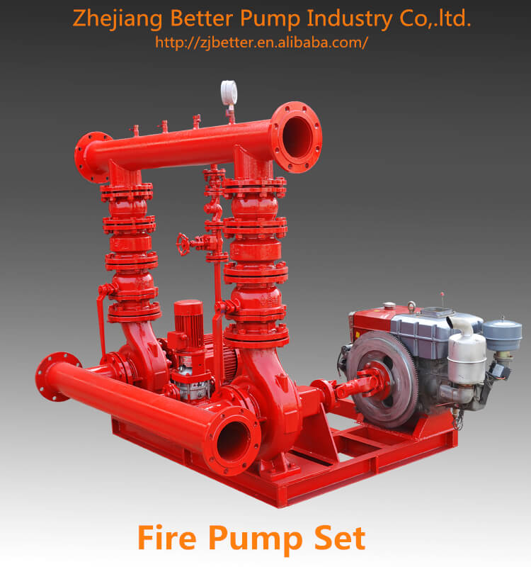 EDJ Diesel Electric fire pump Jockey Pump with Control Panel packing