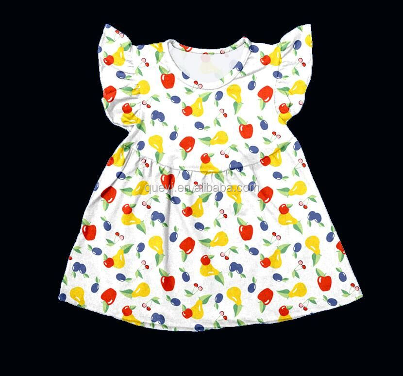 Cute girls childrens clothing wholesale gorgeous short frock dress girl boutique school dress