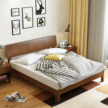 Latest solid wooden modern furniture double bed design