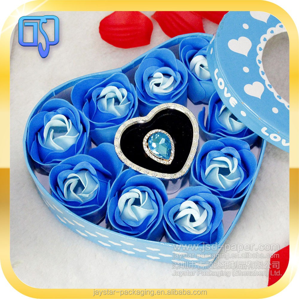 Professional blue flower box packing water proof aluminium insider bouquest flower gift box/waterproof flower box