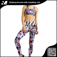 High Quality Women yoga set printed Pant&Top