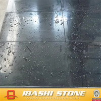 G654 Dark Granite Polished Flooring Tile China Impala Grey Granite G654