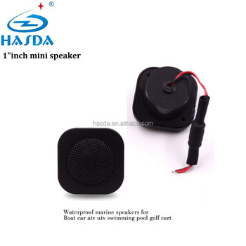 "motorcycle stereo marine sound box speaker mini 1"" inch for ATV UTV sauna spa pool"