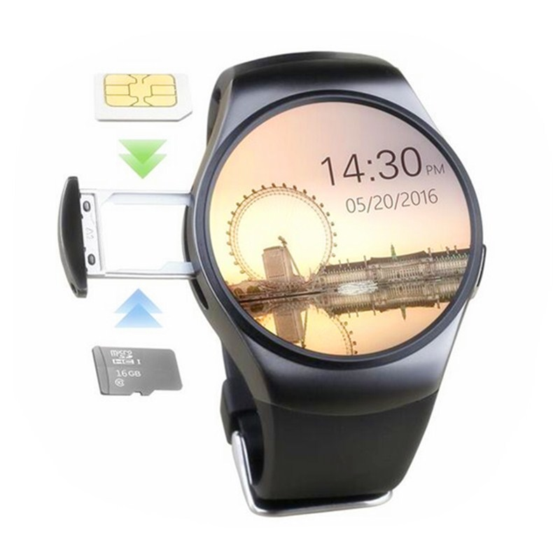 350mAh Polymer battery touch screen 3g video calling mobile phones Waterproof Smart Watch With Sim Card NFC smart watch