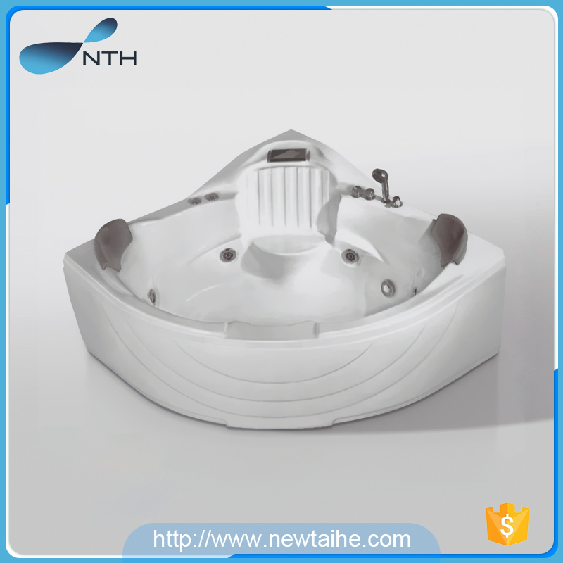 NTH canton fair best selling product two person outdoor spa corner self cleaning bathtub