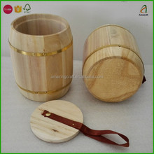 200G Small Wood Barrels,Wooden Tea Storage Containers
