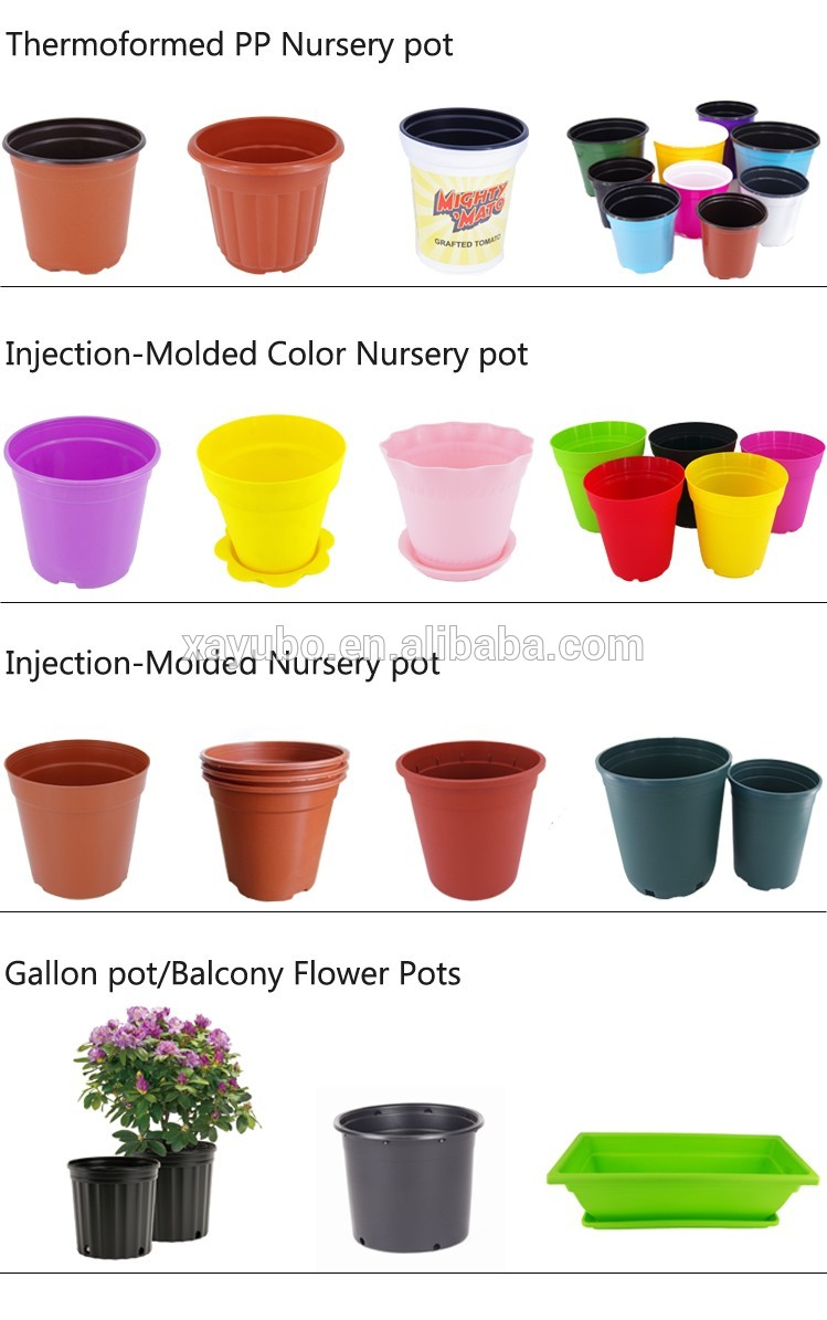 #5 black gallon pot plastic garden flowerpot container gallon