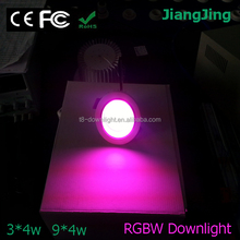 RGB+white led ceiling light 3*4W downlight RGBW down light