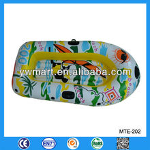 Colorful mini inflatable boat kids, inflatable floating rowing boat for kids