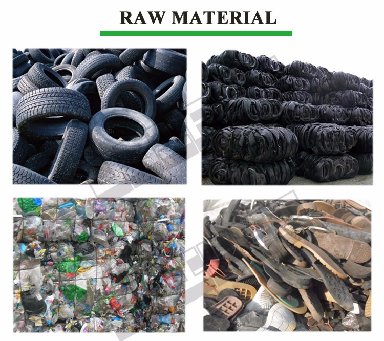 high oil rate waste tyre/tire/plastic/rubber pyrolysis equipment