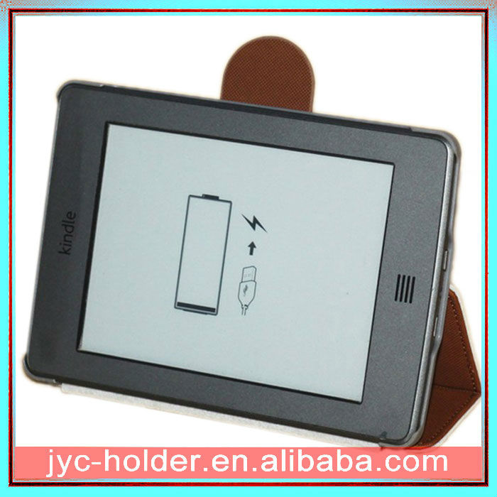 Stand leather case for Kindle touch