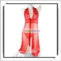 Wholesale! Ladies Silk and Satin Lingerie Red -F00483