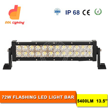Wireless Remote Control! 13.5 Inch 72W LED Flash Light Bar for Police Car, Ambulance and Engineering Vehicle