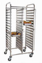 Hotel kitchen biserial stainless steel GN pan food service trolley