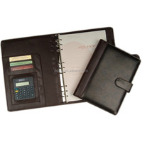 A4 leather padfolio stationery
