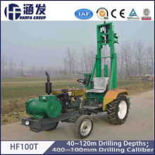 120m HF100T Hot Sale China Factory Tractor Mounted Used Borehole Water Drilling Machine Tools Prices