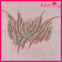 Fashion rhinestone applique dance for growns WRA-483