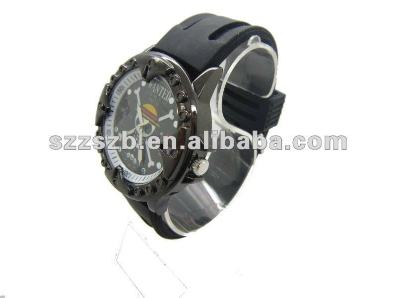 fashion peculiar design quartz watch with rubber band men watch