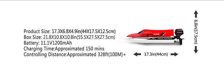 New arrival WLtoys WL915 rc speed boat 2.4G high speed brushless rc boat