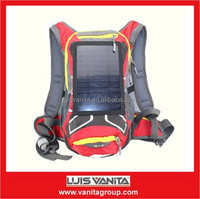 Solar charging panel backpack