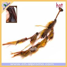 Rooster Feather Hair Extension in Different Styles