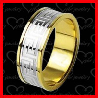 China wholesale stainless steel jewelry gold plated wedding ring couple ring engagement ring