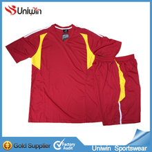 Short sleeve soccer kits, professional soccer training suit