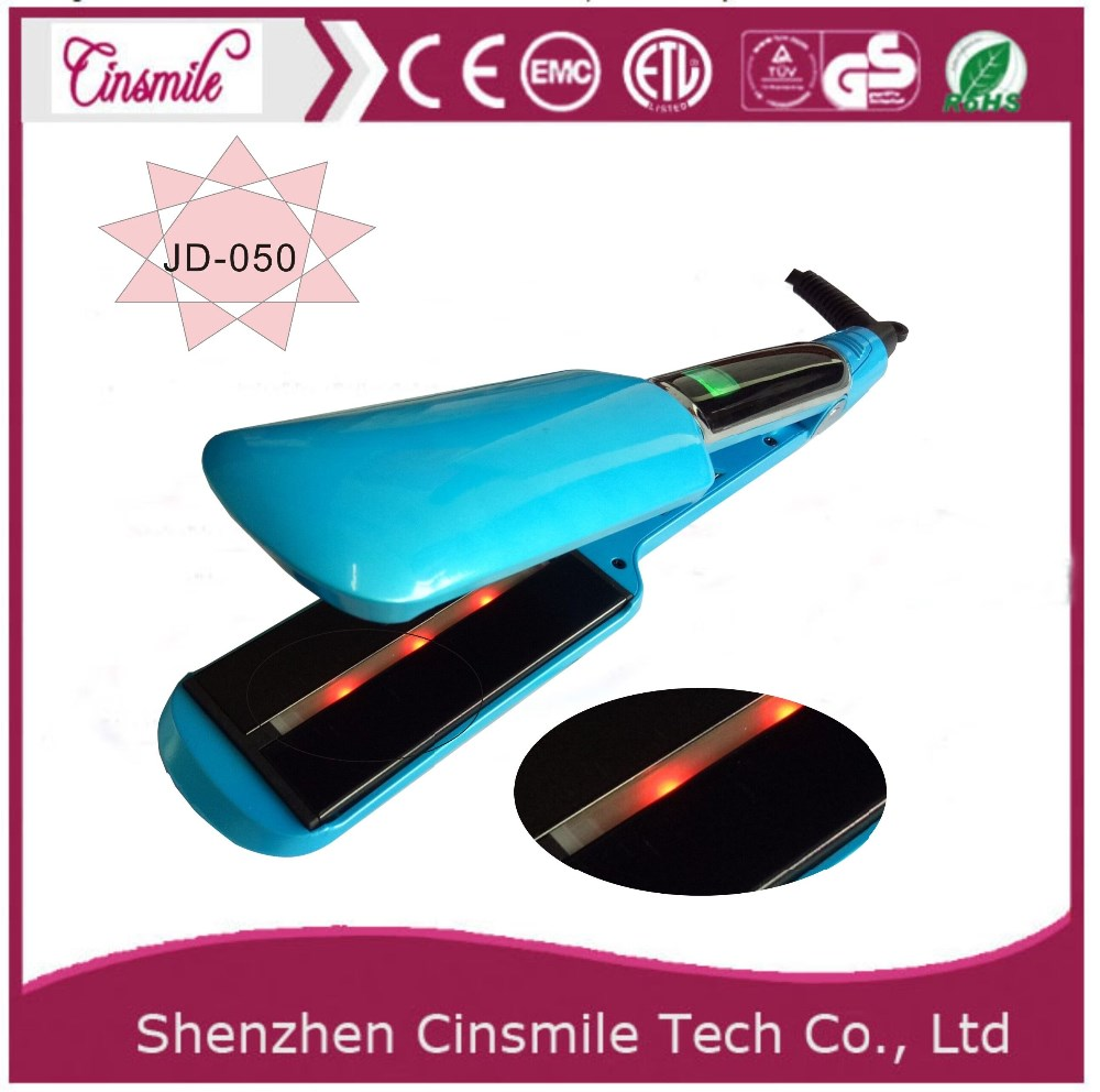 New hair device hair straightener iron private label ionic hair flat Iron with Vibration Function