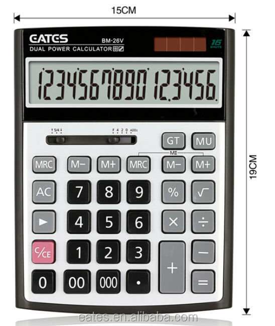 16 digits extra large display electronic calculators with 000 key