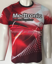 Custom your own design dye sublimation t shirt printing south china printing company