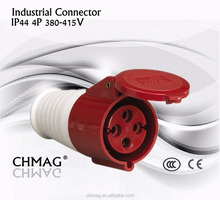 Industrial plug and socket female Mobile socket 32A 4P IP44 Red 224