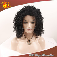 Large stock newest style aliexpress afro kinky human hair lace front wigs