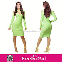 ON SALE online shopping women green bandage dress China S M L