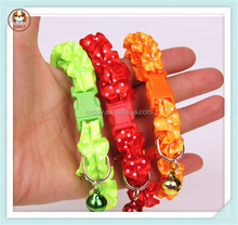 New fashion hot sale nylon pet bell collars for dogs
