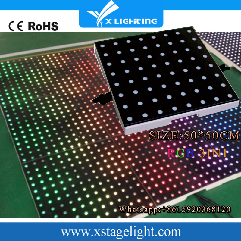 Brand new China Professional portable disco led dance floor for hall/bar/night club/stage with CE certificate