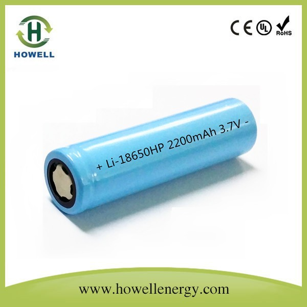 30A discharge current electronic cigarettes 18650 battery 3.7V 2200mah with cheap price